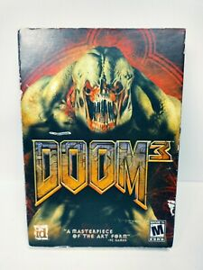MISSING DISC 4 Doom 3 PC in Box with Manual Jewel Case & Discs 1 2 & 3 NO DISC 4