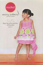Ava Girls & Toddlers Top & Skirt ~ Modkid Sewing Pattern ~ Size 2T-7