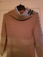 Calvin Klein cable knit cowl neck Sweater Dress Ladies Size Small