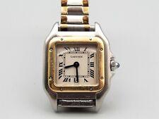 Vtg Cartier Quartz Wrist Watch Or Et Acier Sapphire 18k Gold Stainless Steel