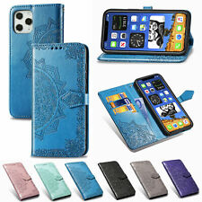 Embossing Relief Mandala Flip Leather Card Wallet Phone Case For Samsung Covers