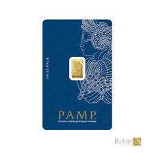 More details for 1 gram gold bar pamp suisse lady fortuna veriscan .9999 fine in assay card