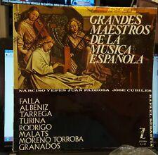Z-L 69 Zafiro Grandes Maestros de la Musica Espanola LP  EX Falla Albeniz Yepes