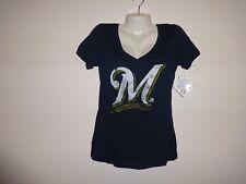 Milwaukee Brewers * Women's Baseball V-neck Tshirt * Sz L * New!