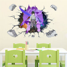 Naruto Sasuke Anime Manga 3D Wandtattoo Wandaufkleber Wandsticker 90X60CM PVC