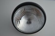 "7.5""  MATTE  BLACK Steel Retro Brit Lucas Type Motorcycle Motorbike Headlight"