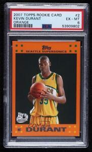 2007-08 Topps Retail Factory Set Orange Kevin Durant #2 PSA 6 Rookie RC