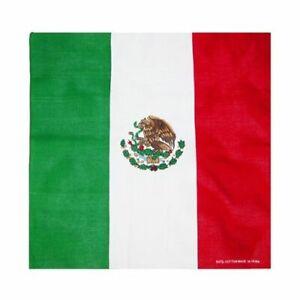"""22""""x22"""" Mexico Mexican Bandana Head Wrap Premium Polyester"""