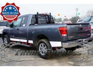 "fit:2004-2015 Nissan Titan King Cab Rocker Panel Trim No/Toolbox NF 5 1/2"" 10Pc"