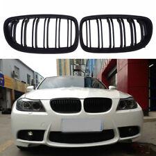 Matte Black Front Bumper Kidney Grill Grille For BMW E90 E91 LCI 4 Door 09-11 CZ