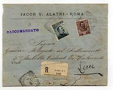 STORIA POSTALE 1906 REGNO C. 15+45 SU RACC. DOPPIO PORTO ROMA 16/7 Z/1691
