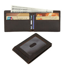 RFID Blocking Leather Men Women Wallet Cowboy Slim ID Cards Holder Bifold Purse