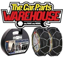 Husky SNOW CHAINS Pair inc CASE to fit Tyre Size 185/60/15 get ready for hiver!