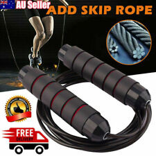 Fitness Gym Skipping Exercise Adjustable Steel Wire Bearing Fast Speed Jump Rope
