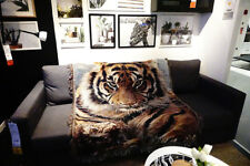 50''X 60'' Tiger Throw Blanket Tapestry Woven Afghans Wall Hangings Cotton Decor