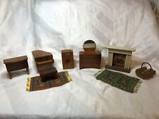 Vintage 1940s Strombecker, Kage & More Wooden Dollhouse Furniture Some HTF