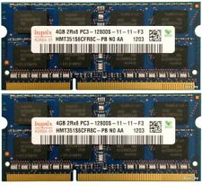 KIT RAM 8GB (2X 4GB) DDR3 PC3-12800S 1600MHz PORTATILE MEMORIA 204PIN HYNIX 1,5V