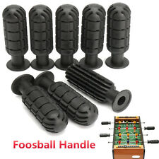 8pcs Soccer Fussball Table Football Rod Rubber Grip Foosball Handles Black