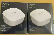 Eero WiFi System Mesh FAST router or extender - up To 140m - White - 2 Packs new