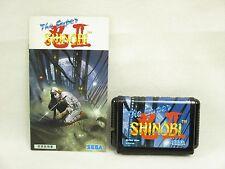 Mega Drive THE SUPER SHINOBI II 2 No Case Cartridge Good Condition Sega md