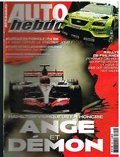 A27- Auto Hebdo N°1609 Lewis Hamilton Vainqueur en Hongrie Ange et Demon