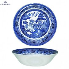 Churchill Earthenware 15.5cm Blue Willow Oatmeal Bowl Serveware Kitchen New