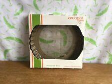 More details for vintage arcopal france retro smoked brown glass lemon meringue pie dish 20cm
