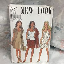 New Look 6377 Tunic top dress skirt vintage UNCUT sewing Pattern size 6-16