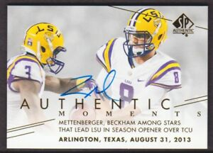 2014 SP Authentic Autograph #195 Zach Mettenberger AM AUTO LSU Tigers