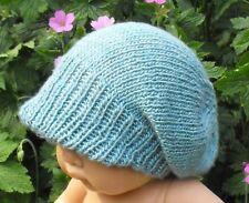 Istruzioni stampate-BABY SETA picco Slouch Cappello knitting pattern