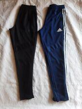 Mens Lot 2 Adidas Climacool Sweat Pants Tappered Zip Leg Size M Black Navy Blue
