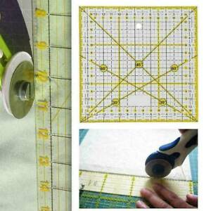 DIY Quilting Sewing Patchwork Ruler Transparent Acrylic Cutting Craft Ruler Tool