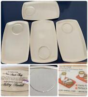 Thermo Temp Melmac Mallory Randal 1950's Snack Set Tray Set 4 NIP Raffiaware