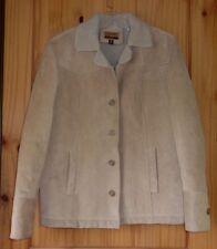 Esprit Leather Coat w/ Faux Shearling Lining, Women's M