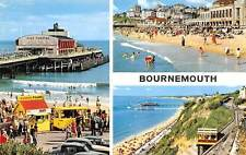 Bournemouth, The Pier Undercliff and Lift Cars Voitures Plage Promenade