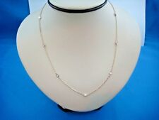 0.50 CT T.W. 7 STATIONS DIAMOND BY THE YARD 14K YELLOW GOLD NECKLACE