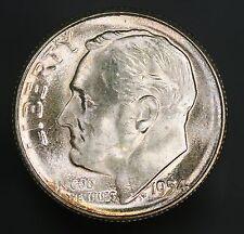1954-S Roosevelt Dime Stunning Problem Free Flashy Example! GC636
