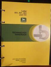 John Deere Frontlader 551 + 631 + 651 + 731 Werkstatthandbuch