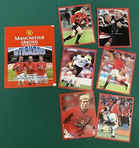 Manchester United - Europe 2001 Futera Stickers And Wrapper