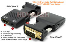 Plug-And-Play VGA To HDMI Video Converter With Audio Input