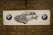bmw 5 series e28 large pvc  WORK SHOP BANNER garage  SHOW BANNER