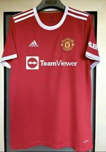 Manchester United Home Football Shirt Red 21/22 See Desc Free Postage