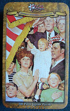 small jigsaw puzzle 500 pc tin Norman Rockwell Collection Salute the Flag