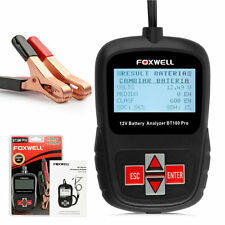 Comprobador Analizador Bateria 12V Coche Flooded AGM GEL Foxwell BT100 Digital