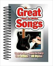 How To Write Great Songs Easy To Use/Carry 100 Artistes All styles Book New