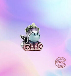 Rainbow Bruno the Unicorn Charm SILVER 925 EUROPEAN FIT CHARM BRACELET