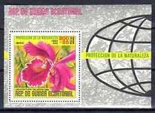 Fleurs - Orchidées Guinée Equatoriale (133) bloc oblitéré