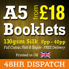 A5 Brochure Booklet Printing on 130GSM Silk - Printed A5 Booklets