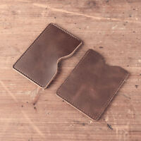 Handmade Genuine Leather Wallet Credit Card Sleeve Vintage Business Holder Purse