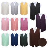 "Premium Greek Key Patterned Vest Wedding Mens / Boys Waistcoat 22""-50"""